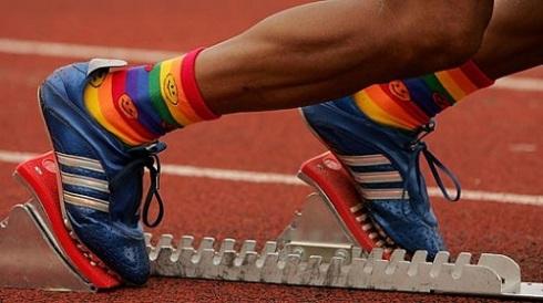 gay socks running