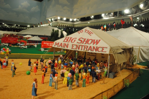 Howard Bros. Circus Model in the Ringling Circus Museum, Sarasota